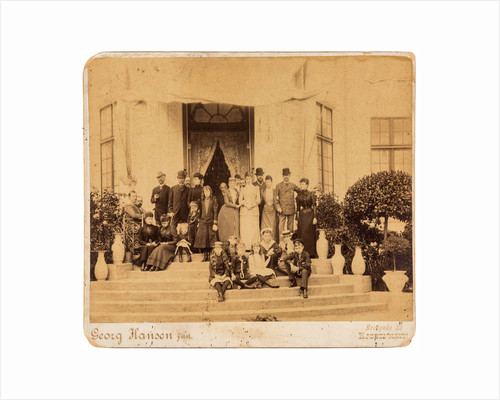 The English, Greek, Russian and Danish royal families at Bernstorff Palace, Denmark, 1890 by Anonymous
