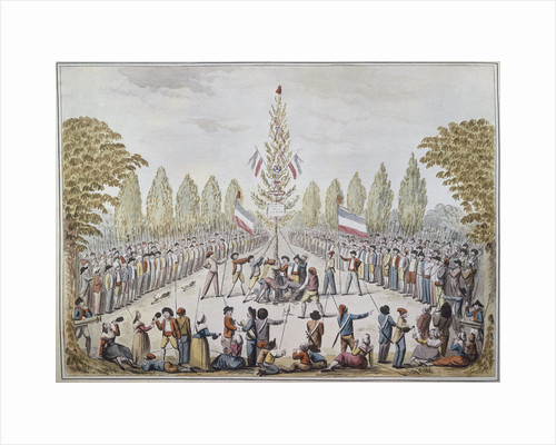 The Planting of a Liberty pole, 1792 by Anonymous