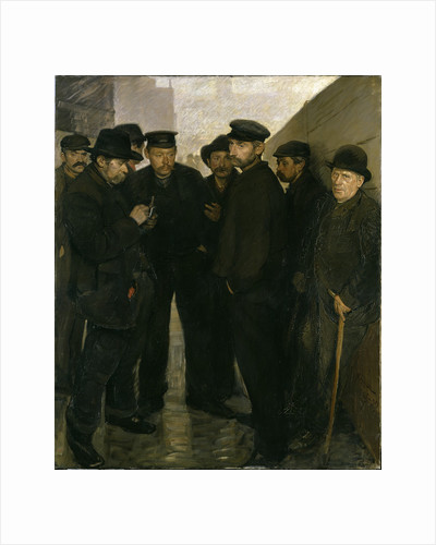 Unemployed (Day Laborers at the Port of Hamburg), 1908-1909 by Anonymous
