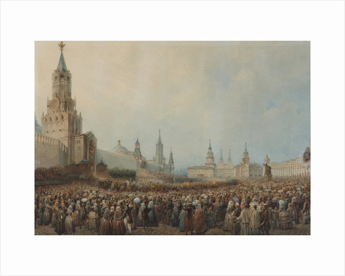 The triumphal entry of the Coronation Procession into Kremlin on August 17, 1856, 1856 by Anonymous