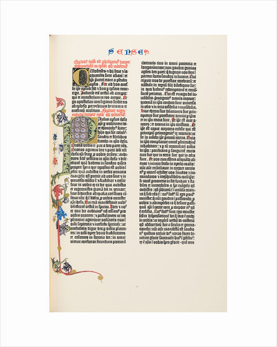 The Gutenberg Bible, 1454 by Anonymous