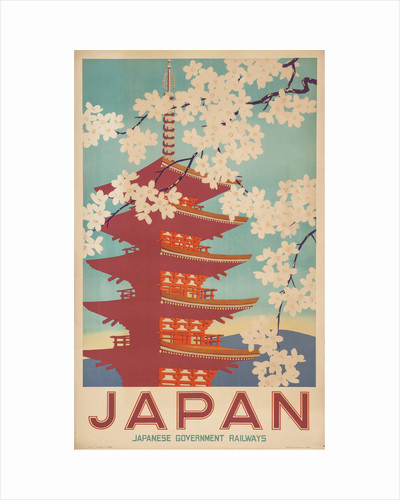 Japan. Travel poster, 20th century by Anonymous