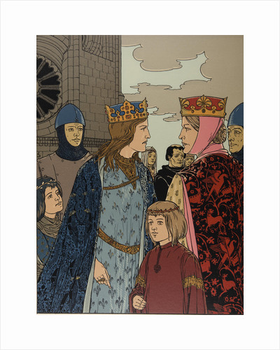 Illustration The Nibelungs, 1898-1901 by Anonymous