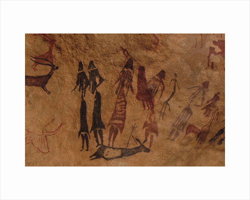 The dancers of Cogul. Cave painting from the Roca de los Moros (Roca dels Moros) by Anonymous