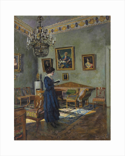 Young woman reading, 1919 by Anonymous