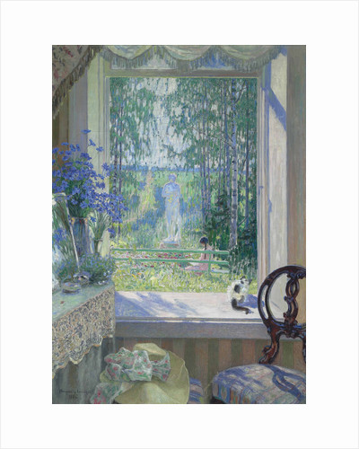 Open window onto a garden, 1911 by Anonymous