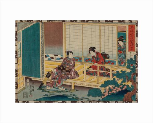 From the series Sono sugata yukari no utsushi-e (Magic Lantern Slides of That Romantic Purple Figure by Anonymous