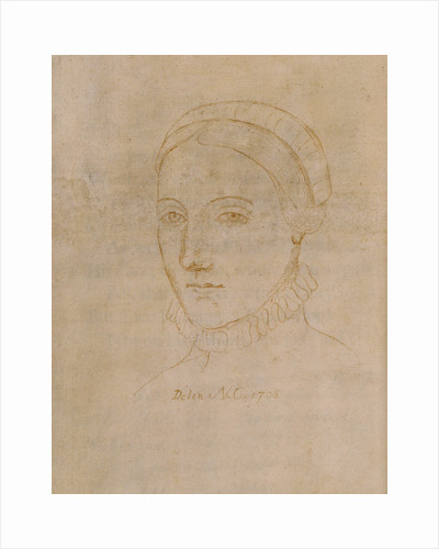 Portrait of Anne Hathaway (1555/6-1623), the wife of William Shakespeare, 1708 by Anonymous