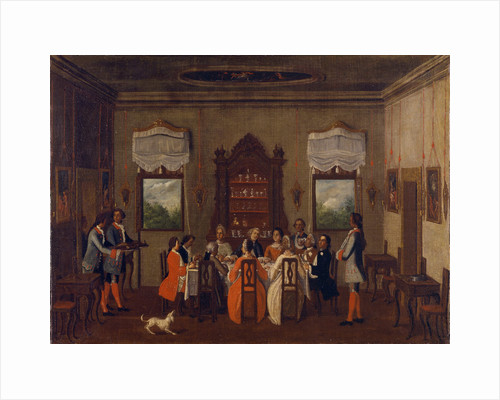Breakfast in the villa, Between 1760 and 1799 by Anonymous