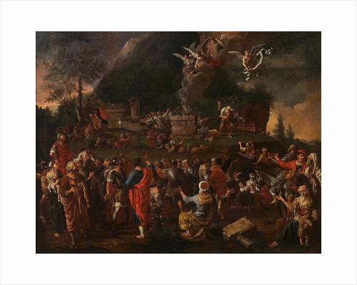 Elijahs sacrifice on Mount Carmel by Anonymous