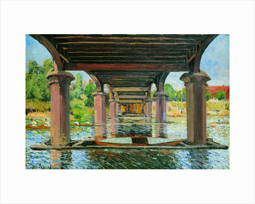 Sous le pont de Hampton Court (Under the Bridge at Hampton Court), 1874 by Anonymous
