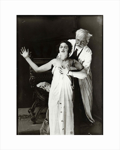 Alphonse Mucha and Jaroslava posing for poster DeForest Phonofilm, 1927 by Anonymous