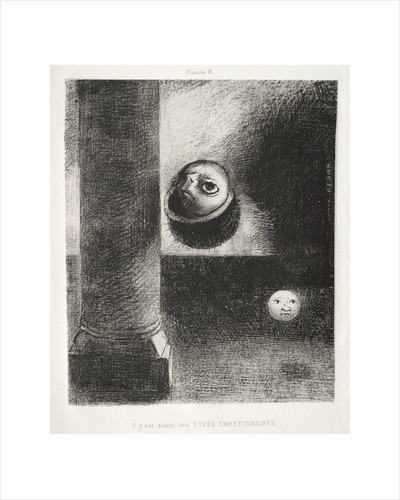 Homage to Goya: There Were Also Embryonic Beings, 1885 by Odilon Redon