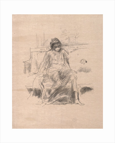 The Draped Figure Seated, 1893 by James McNeill Whistler