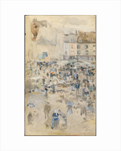 Variations in Violet and Grey?Market Place, Dieppe, 1885 by James Abbott McNeill Whistler