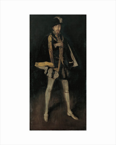 Arrangement in Black, No. 3: Sir Henry Irving as Philip II of Spain, 1876, reworked 1885 by James Abbott McNeill Whistler