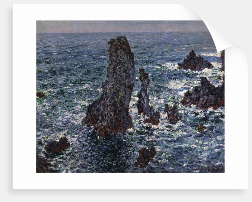 The Rocks in Belle-Ile (Pyramides de Port-Coton, Mer sauvage), 1886. by Claude Monet
