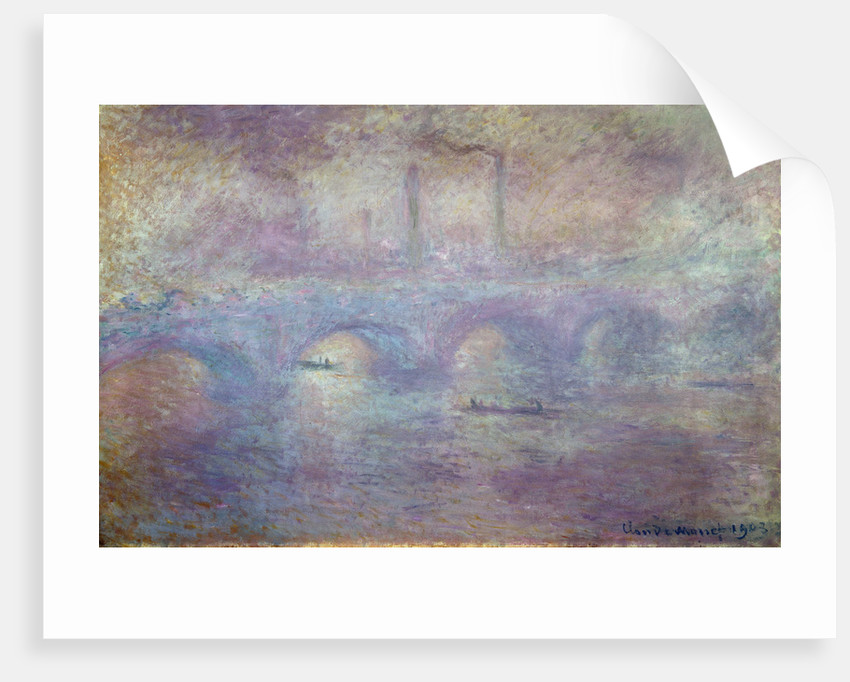 The Waterloo Bridge, Fog Effect, 1903 by Claude Monet
