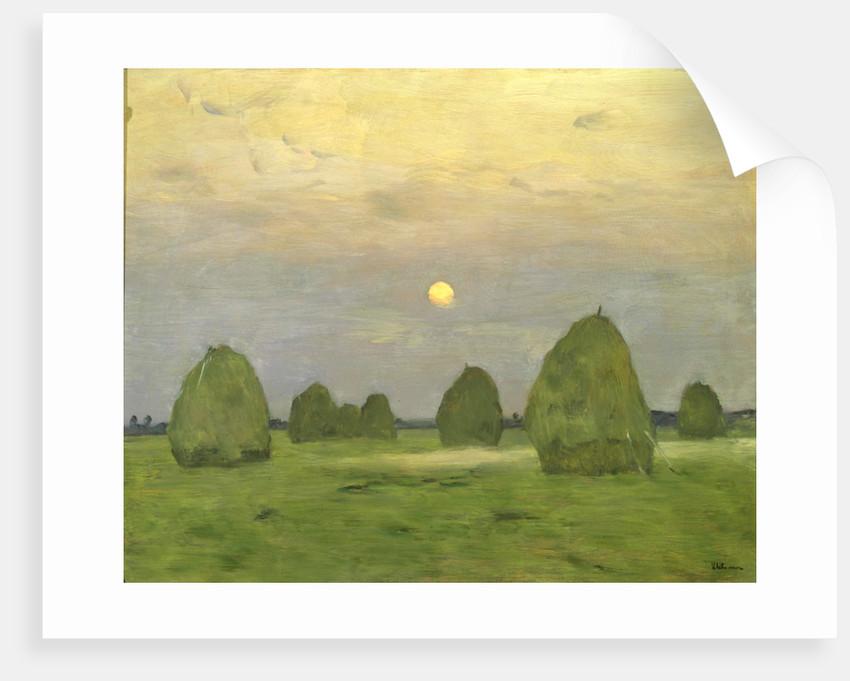 Twilight, The Haystacks by Isaak Levitan