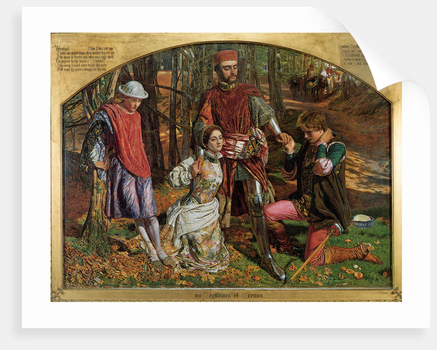 Valentine Rescuing Sylvia from Proteus by William Holman Hunt