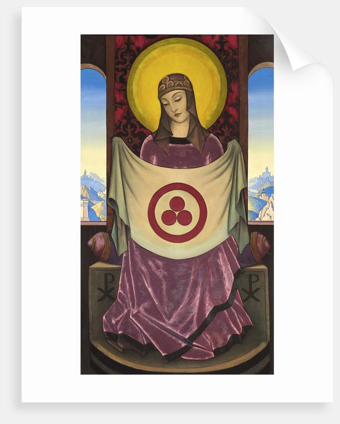 Madonna Oriflamma, 1932. by Nicholas Roerich