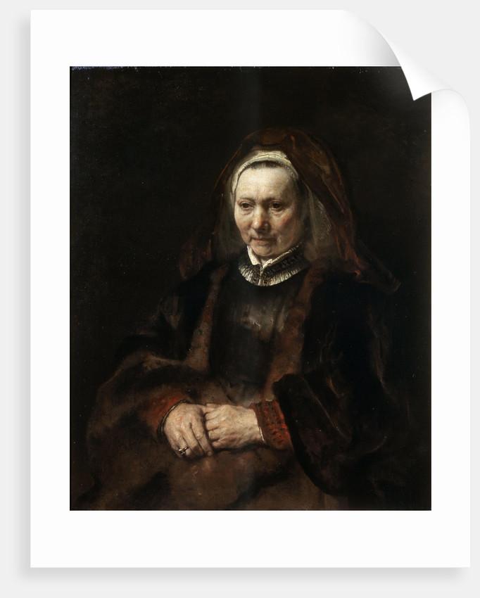 Portrait of an Elderly Woman by Rembrandt (Rembrandt van Rijn)