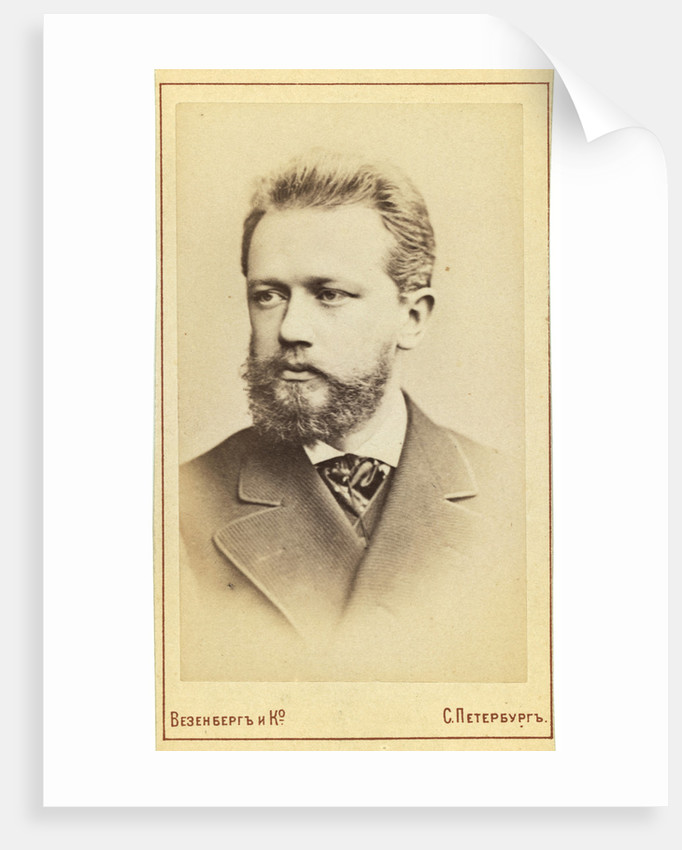 Pyotr Tchaikovsky, Russian composer, 19th century. by Wesenberg
