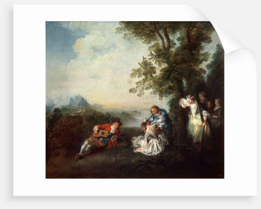 Company at the Edge of a Forest, late 1720s by Nicolas Lancret