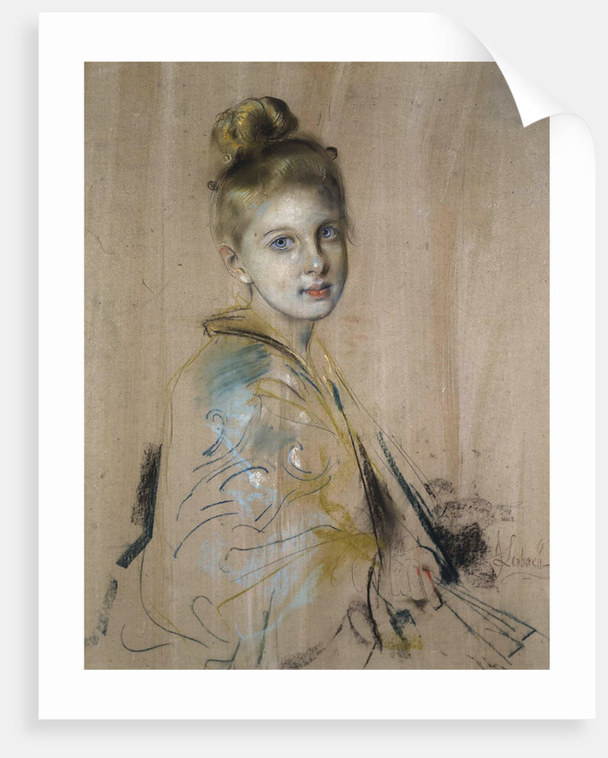 Girl with a Fan, 1880s by Anonymous