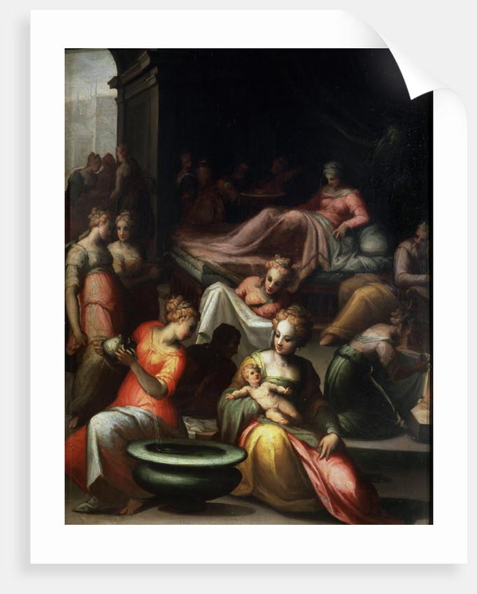 The Nativity of John the Baptist, 16th century. by Giovanni Battista Naldini
