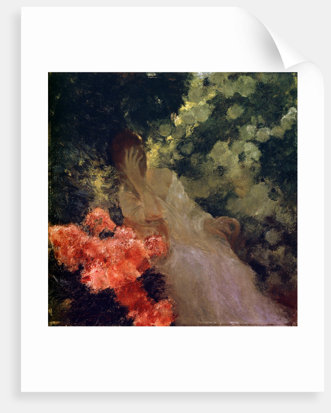 In the Garden, 1898. by Gaston de Latouche