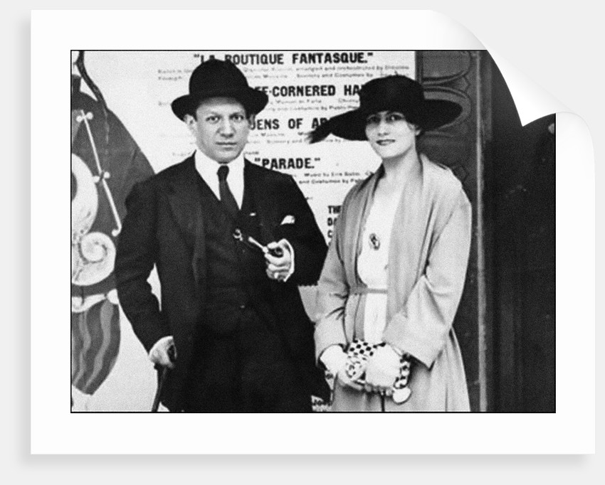 Pablo Picasso and Olga Khokhlova, c. 1918 by Anonymous