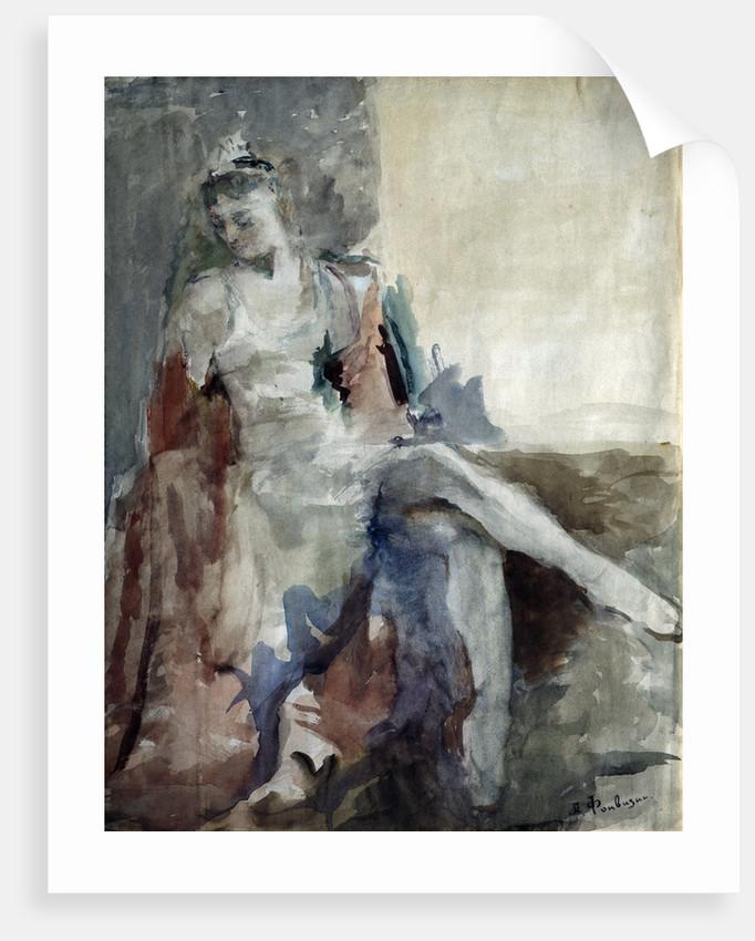 Portrait of the ballet dancer Irina Tichomirnova (1917-1984) by Artur Vladimirovich Fonvizin