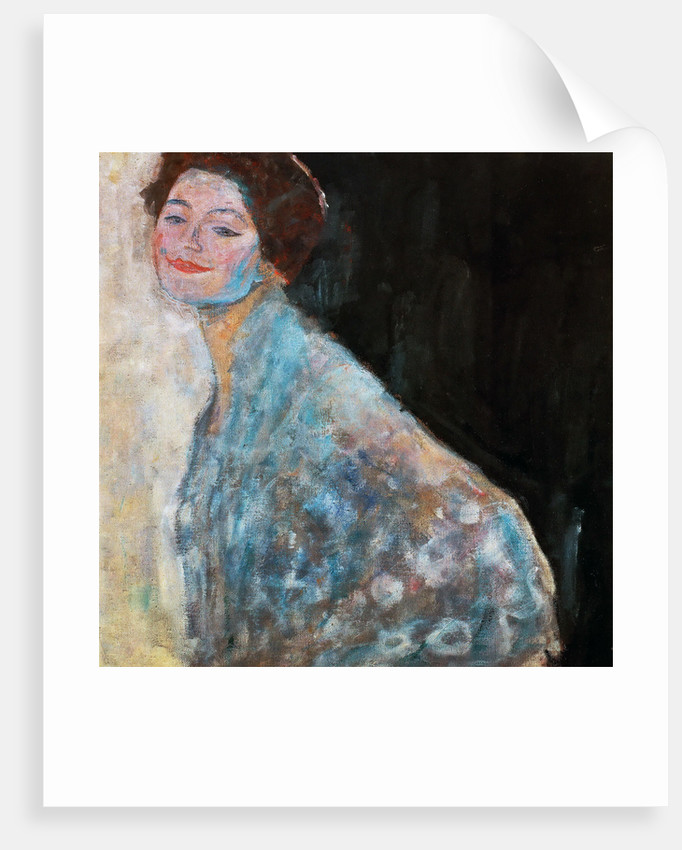 Portrait of a Lady in white (unfinished) by Gustav Klimt