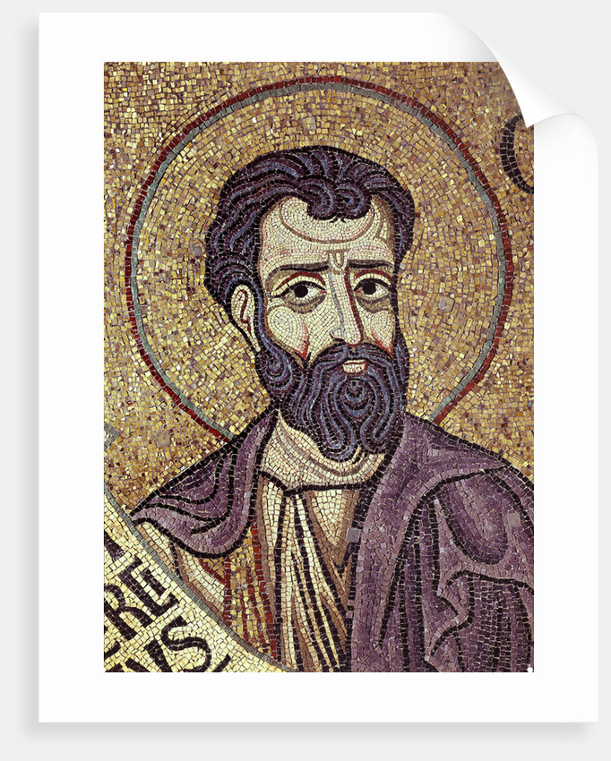 The Prophet Hosea (Detail of Interior Mosaics in the St. Marks Basilica), 12th century by Byzantine Master