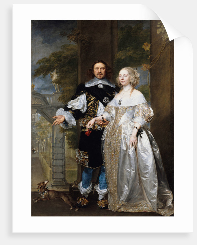 Portrait of a Married Couple in the Park, 1662 by Gonzales Coques