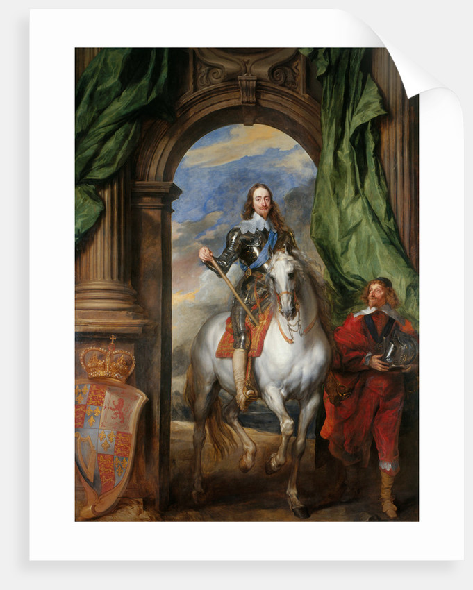 Equestrian portrait of Charles I, King of England (1600-1649) with M ...