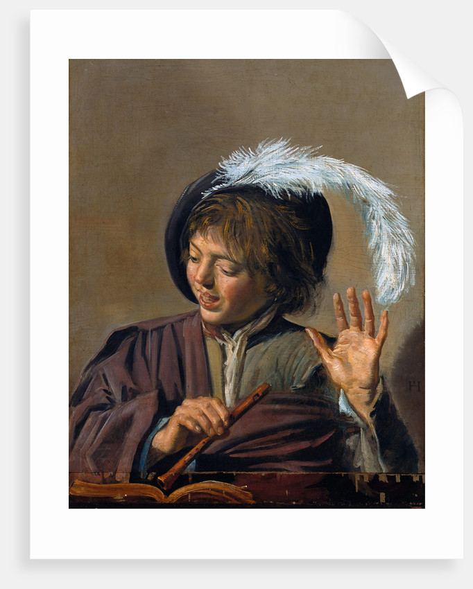 Singing Boy with Flute by Frans Hals I