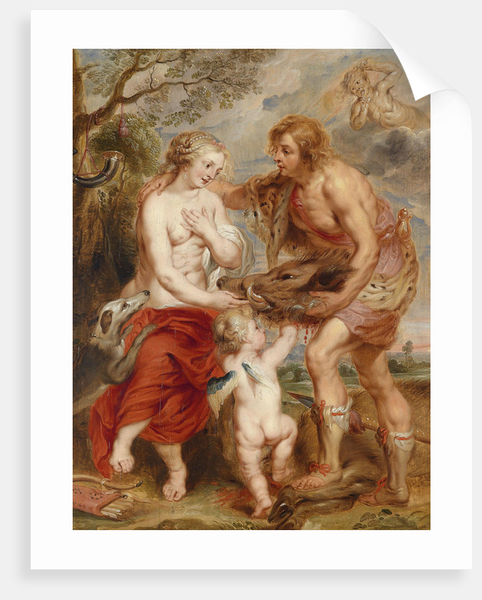 Meleager offering the Calydon boars head to Atalanta by Pieter Paul Rubens