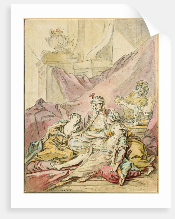 The Pasha in His Harem, ca 1735-1739 by François Boucher