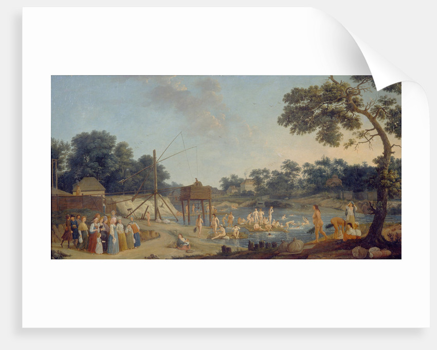 View of the Serebryanichesky Bath Houses in Moscow, 1796 by Gérard de la Barthe