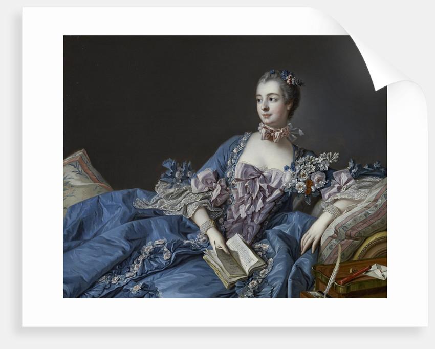 Portrait of the Marquise de Pompadour, ca 1758 by François Boucher