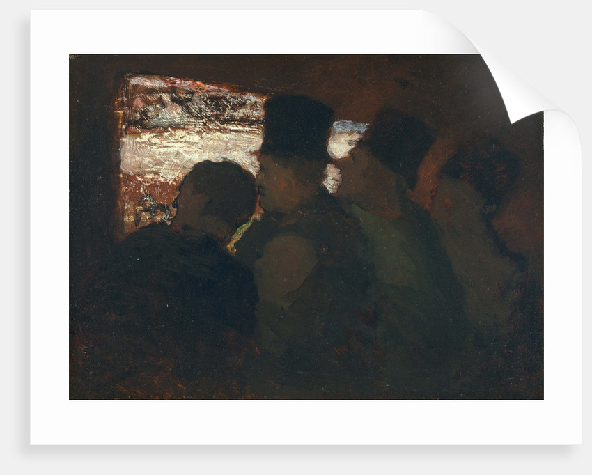 Parterre (Theater audience), c. 1858 by Honoré Daumier