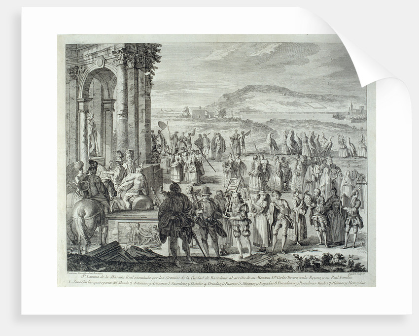 Cortège of Janus, 1764 by A. J. De Fehrt