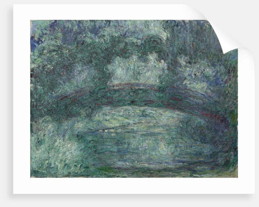The Japanese bridge, 1919-1924 by Claude Monet