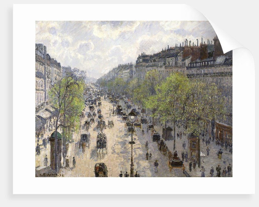 Boulevard Montmartre, Spring by Camille Pissarro