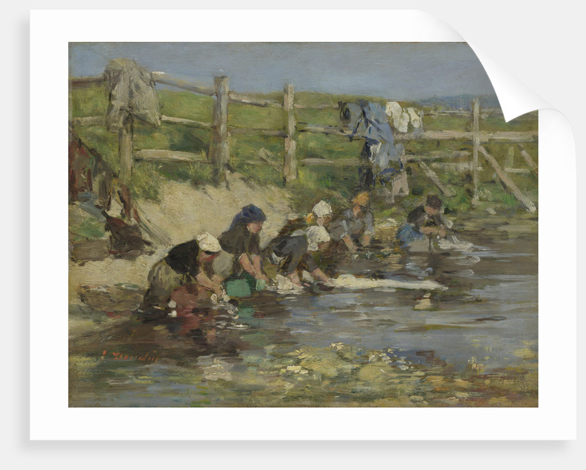 Laundresses by a Stream, ca. 1886-1890 by Eugène-Louis Boudin