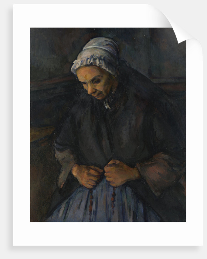 An Old Woman with a Rosary, c. 1895 by Paul Cézanne