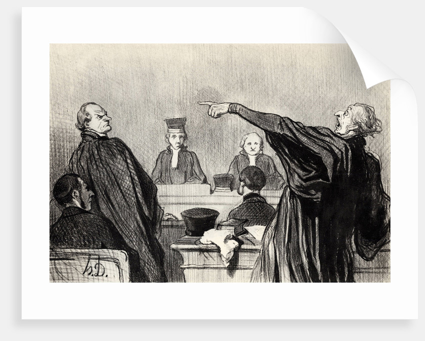 An advocate who is evidently fully convinced... by Honoré Daumier