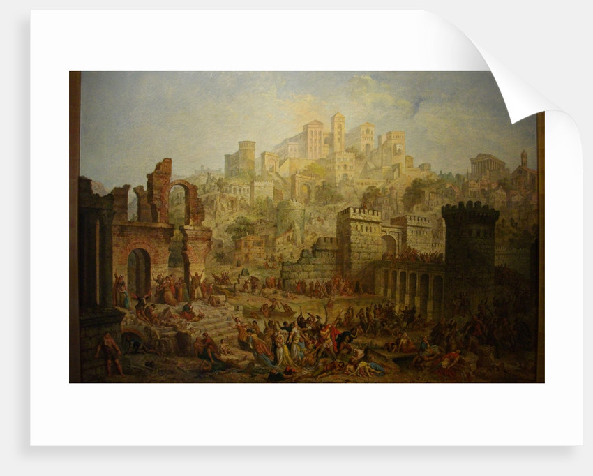 Massacre of Jews in Metz during the First Crusade by Auguste Migette